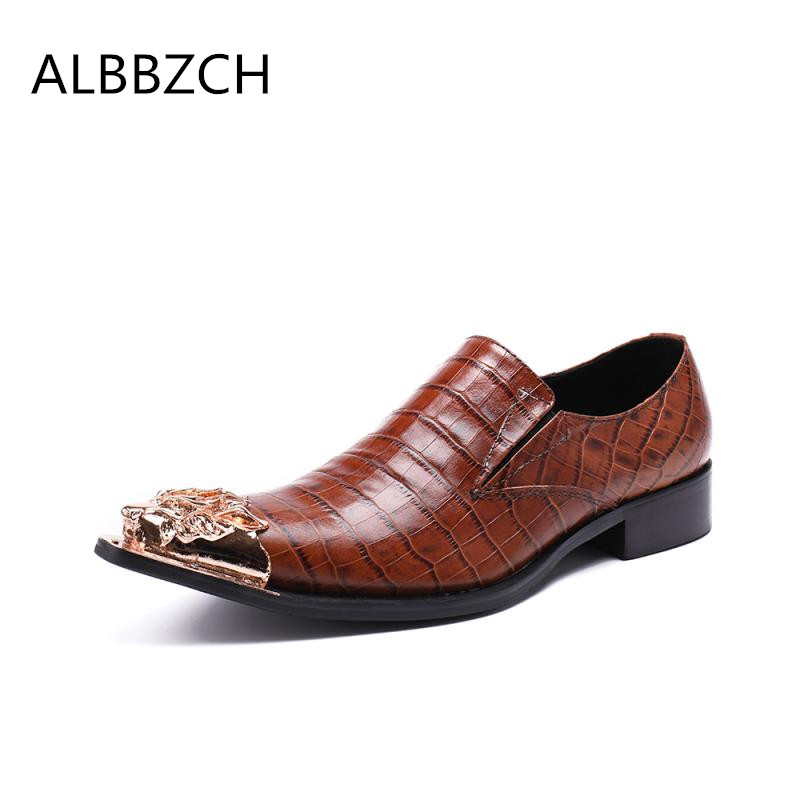 Spring autumn new mens embossed leather dress shoes men loafers luxury metal design pointed toe wedding shoes career work shoesSpring autumn new mens embossed leather dress shoes men loafers luxury metal design pointed toe wedding shoes career work shoes