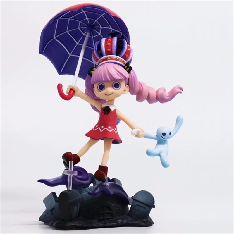 Anime One Piece P.O.P Excellent Model Limited Perona Gothic PVC Action Figures Collectible Model Toys Doll 17cm