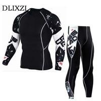 Sporting Fitness Men T Shirt And Pants Compression Clothing Rashguard Teen Wolf Skull 3d Printing