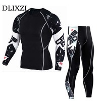 Sporting Fitness Men T Shirt And Pants Compression Clothing Rashguard Teen Wolf Skull 3d Printing