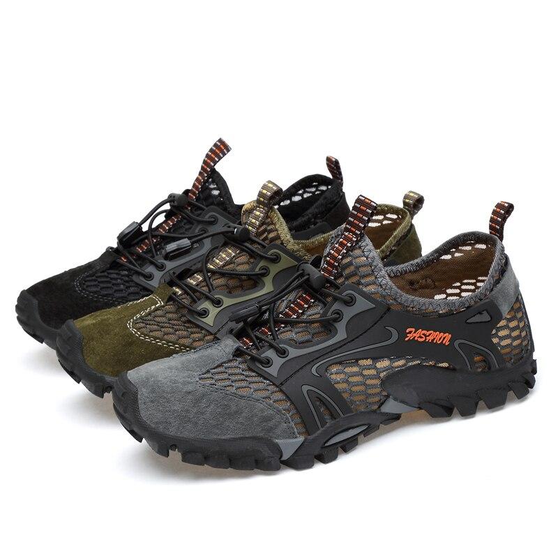 Livraison Qualité Adulte army Légères Armée Summer grey Misalwa Green Chaussures Styl Directe Respirant Shoe Sandales Hommes Vert Shoe Décontractées Hikin Sneakers Black D'été Mesh 0vNw8mn