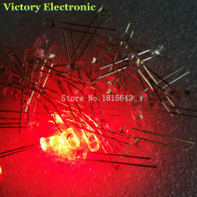 100PCS/Lot 3mm Round Red LED Diode Super Bright Water Clear LED Light Lamp Red color New