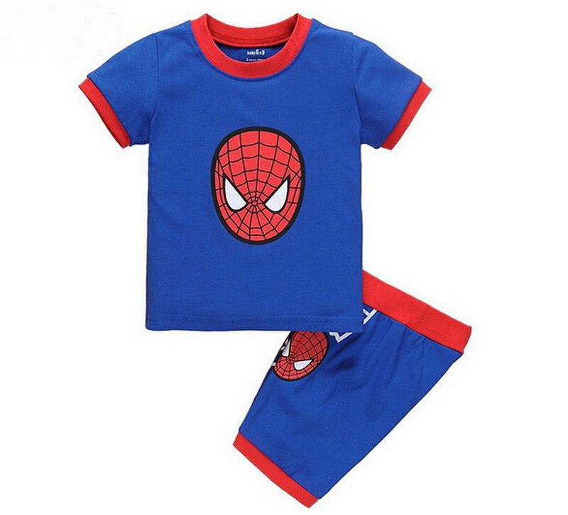 fcd55550e01b 2018 Summer Boys Pajamas Sets Short Sleeve Children s Sleepwear ...