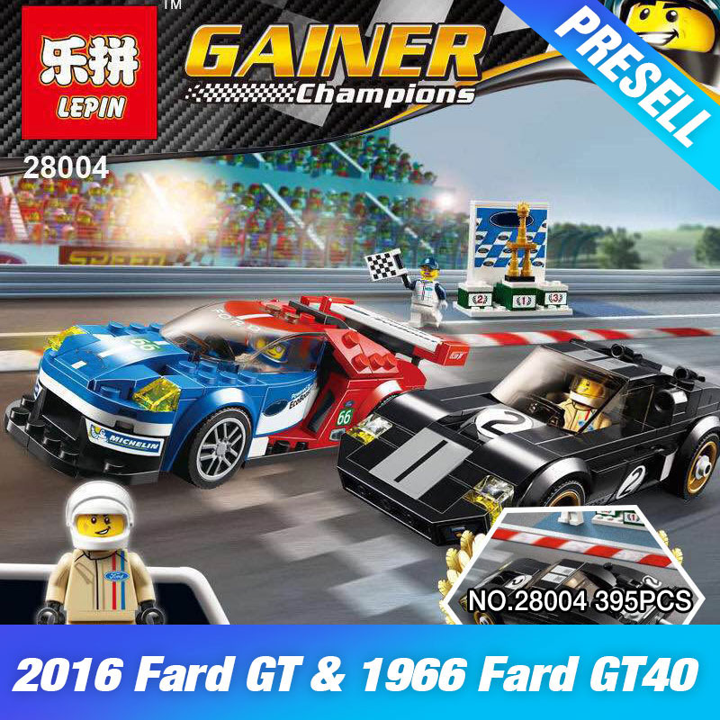 ФОТО Lepin 28004 395Pcs Super Racer Series The GT395 Racing Car Set Children Educational Building Blocks Bricks Toys Model Gift 75881