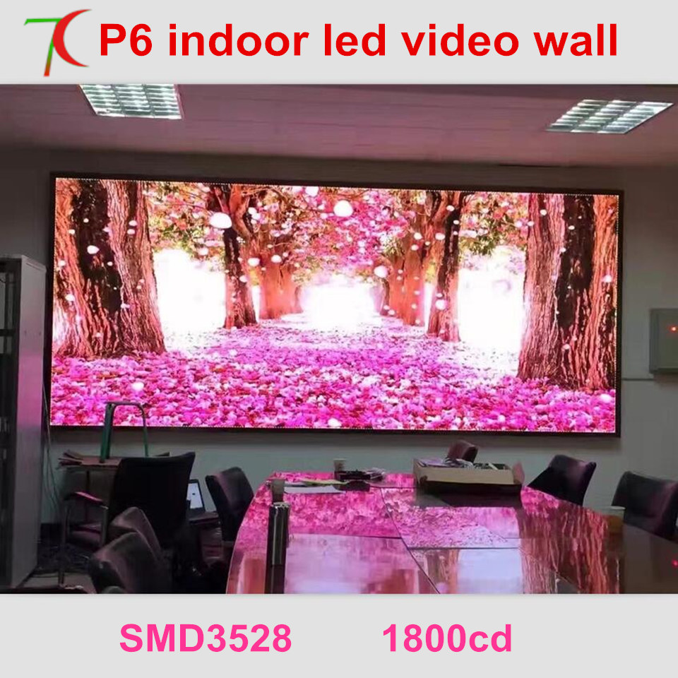 P6 Indoor Smd  Full Color Led Screen Widely Use For Video Wall For Meeting Room,multi-media Classroom