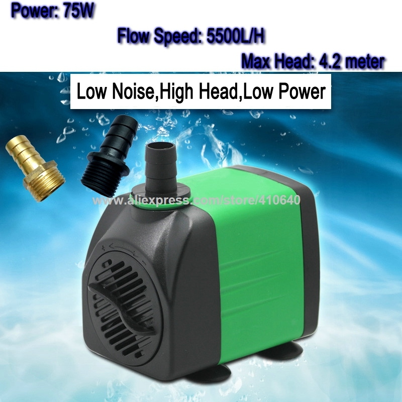 75W 4.2 m Head 5500 L Per Hour Submersible Pump for CNC Router Spindle Recycling Water Cooling Pump For CNC and Laser Machine laser head owx8060 owy8075 onp8170