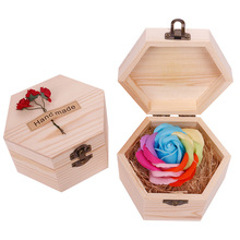Радужное многоцветное мыло в форме лепестка розы, в форме лепестка, в форме шестиугольной формы, вечерние, подарок на день Святого Валентина, для отбеливания кожи, TSLM1