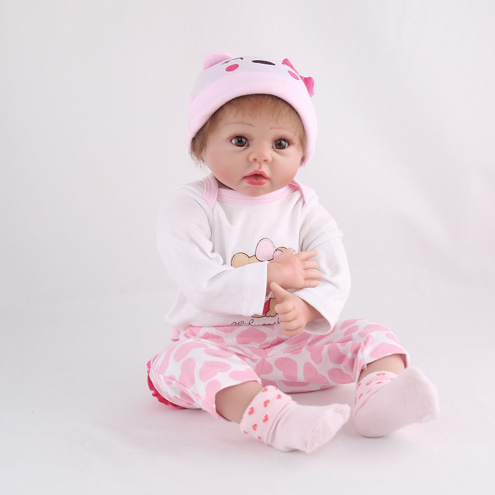 55cm Baby Girl Silicone Reborn Dolls Bebe Realistic Toys for Girls Gifts with Clothes