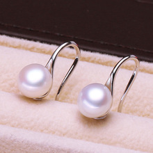 Pearl earrings ladies earrings fashion jewelry baroque pearls with stone spoon shape