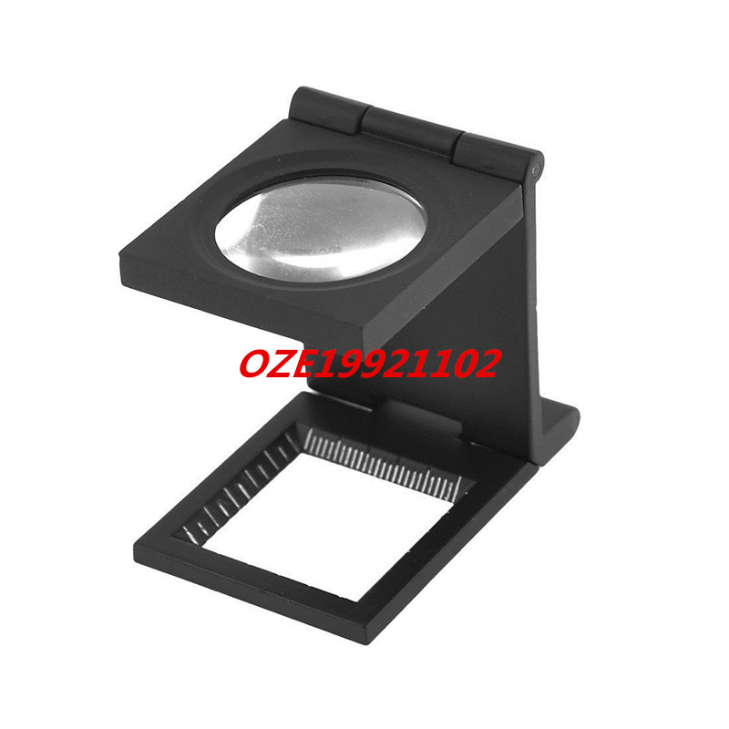 1PCS Black Metal Folding Magnifier Magnifying Glass Jewelry Loupe 5X dental teaching model caries model of child gum can be removed