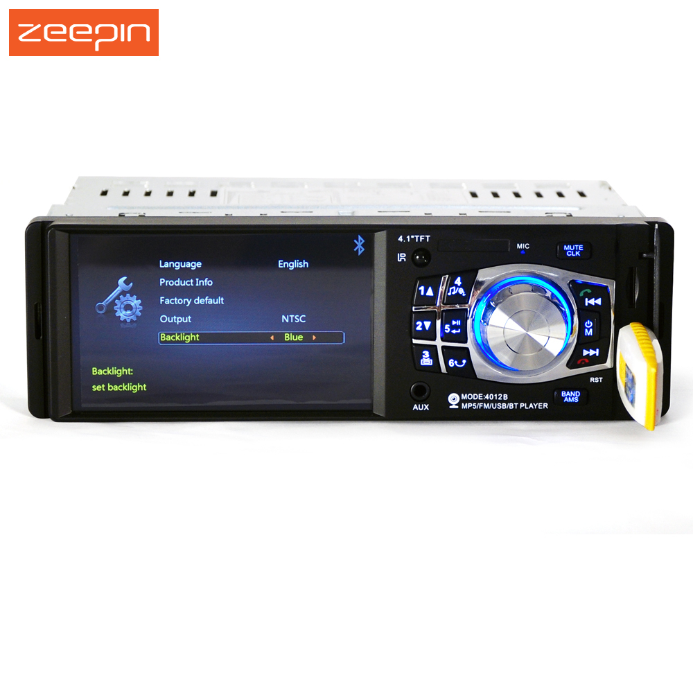 4.1'' 4012B 1 Din Car Radio Player Auto Audio Stereo FM Bluetooth USB Car MP5 Player Support Streering-wheel Rear view camera universal 2 din car video player auto audio stereo mp5 player 7 2din car dvd player usb fm bluetooth support rear view camera