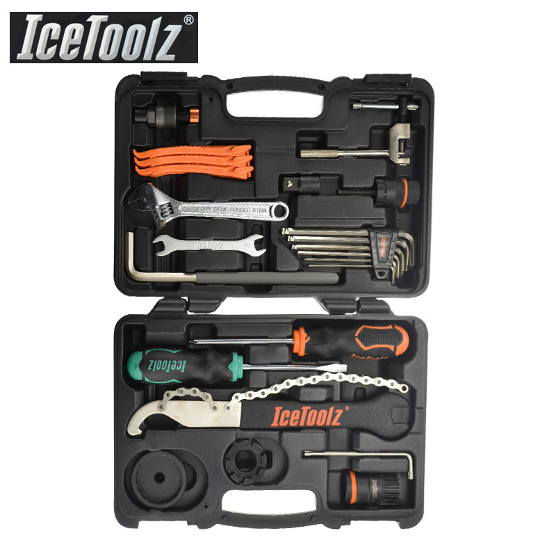 IceToolz 82F4 Essence Tool Bike Kit Multifunctional Bicycle Repair Tool Box Shop Tool Set Cycling Repair