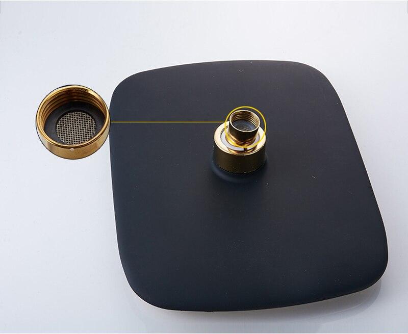 HTB1b7JCvaQoBKNjSZJnq6yw9VXaa Rainfall Shower Faucet Golden Black Bathroom Shower Set With Bidet Sprayer Mixer Tap Wall Mount Shower Hot Cold Water Tap