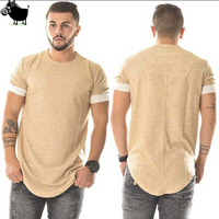 Man Si Tun Fashion Tees homme Heren Hiphop Swag T shirt Streetwear merk-Kleding apricot Mannen solid T-shirt Hiphop tyga kanye
