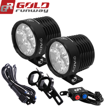 GOLDRUNWAY Motorcycle 32W LED Flood Spot Beam 6000k Auxiliary Lamp Motorcycle LED Headlight accessories car work fog light