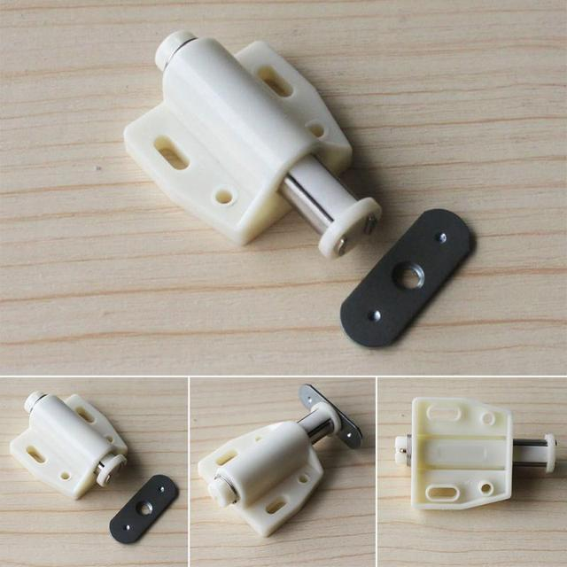 4pcs Set Open Magnetic Door Drawer Cabinet Latch Catch Kitchen Cupboard Cabinets