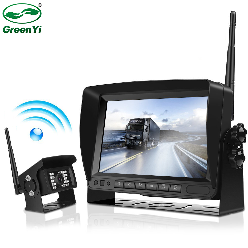 2018 Update Digital Wireless Backup Camera and Monitor Kit For Truck Trailer Bus RV Pickups Trailer