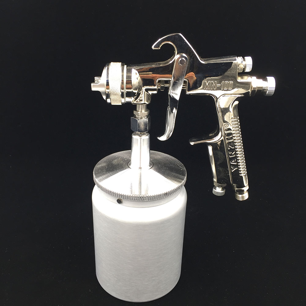 YZ-MN100S spray gun for painting high pressure paint gun high quality base coating gun with 400ml tank paint spray gun 1 5mm nozzle gravity 400ml cup stainless steel high pressure painting gun