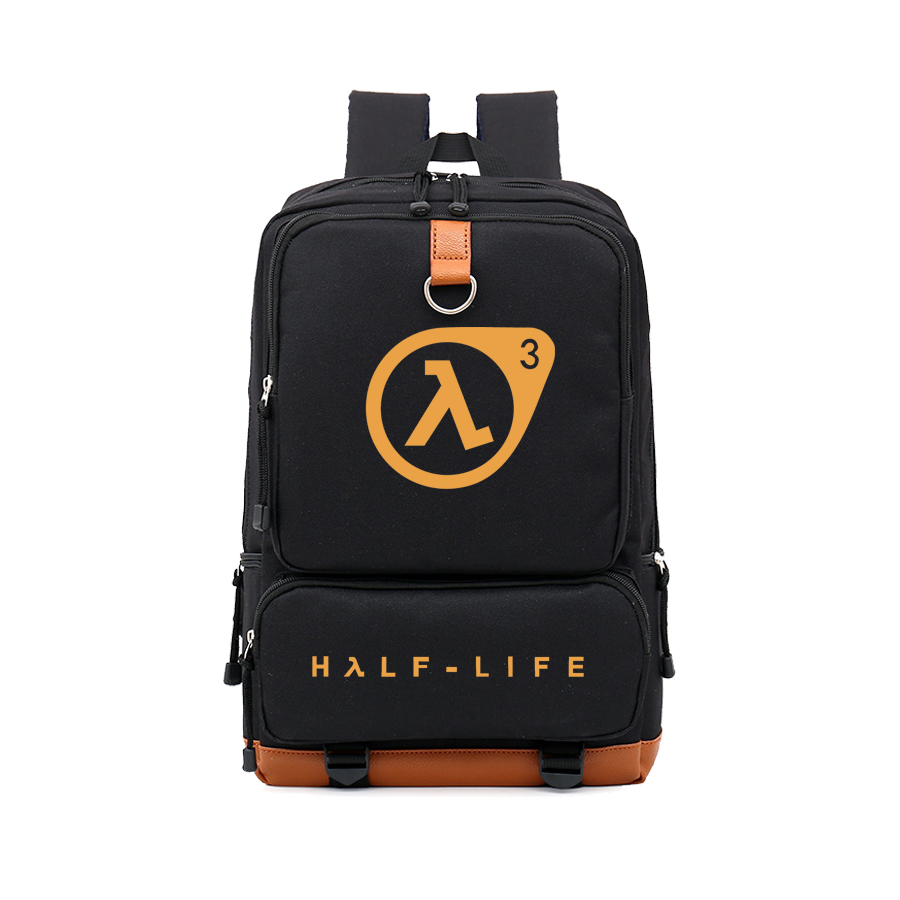 GAME Concept Backpack Half Life Backpacks Gamers Bag Half Life Backpacks Gamer Gift Bag Cartoon Nylon Backpacks  NB394