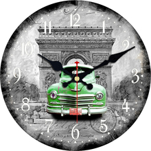 7 Patterns Vintage Car Design Clocks Silent Living Room Home Kitchen Office Wall Decor Watches Art Large No Ticking