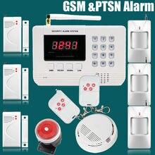 Лучшая цена Акции Русский или Английский руководство Пользователя GSM PSTN сигнализация Главная охранной сигнализации Бесплатная доставка