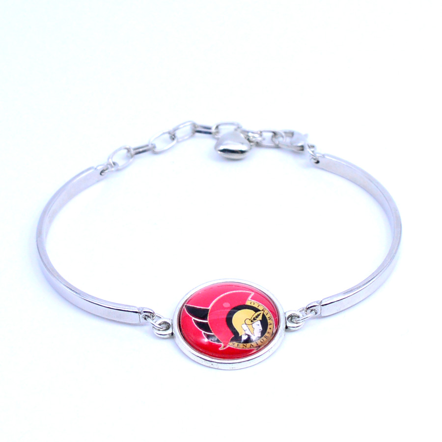 Bracelet Bangle Ottawa Senators NHL Charms Ice Hockey Sport Bracelet Wholesale Jewelry 10pcs/Lots Popular 2018