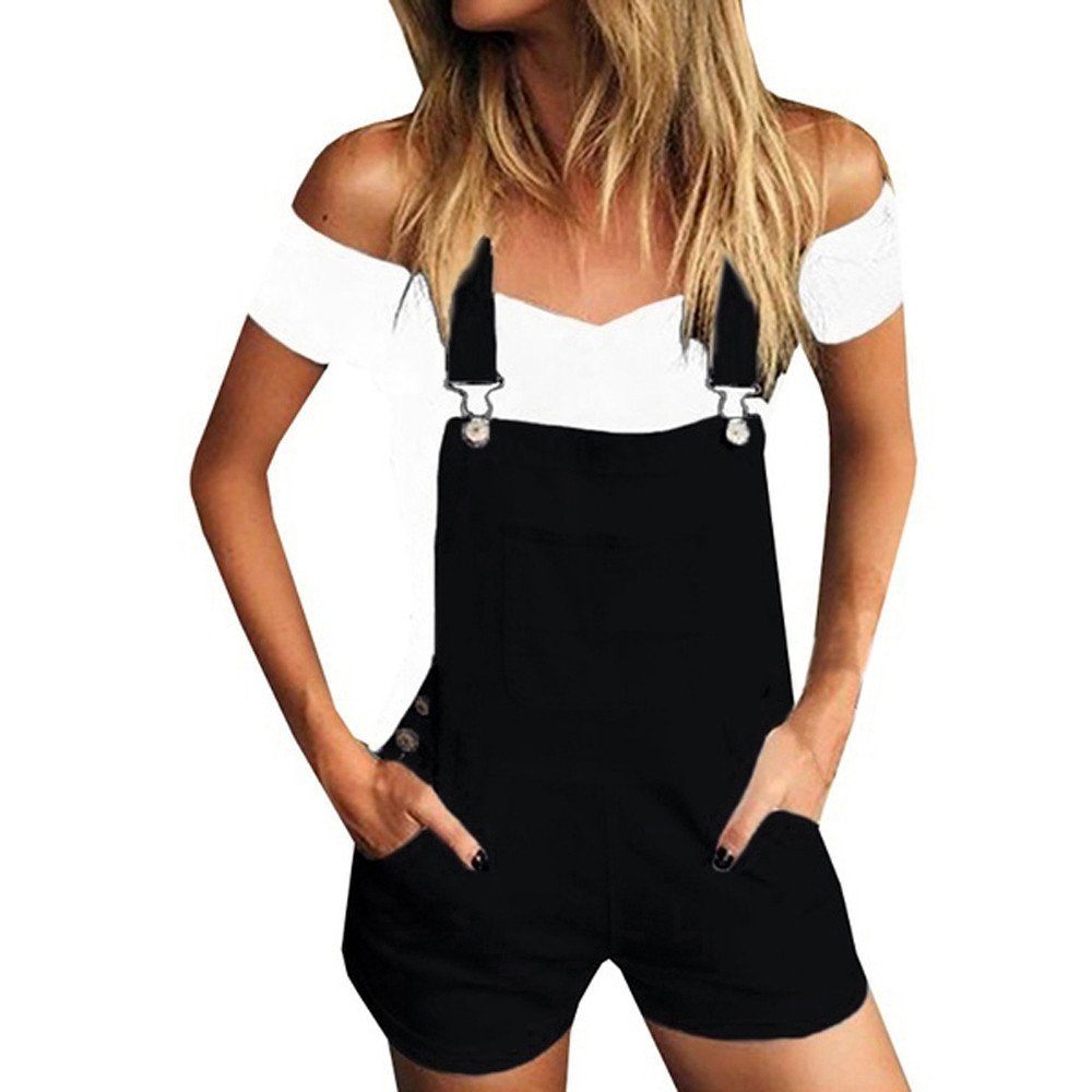 cotton   shorts   for women Micro   Short   jeans women summer Demin   Shorts   pocket spodenki damskie female overalls jean black white