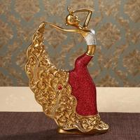 Decoration Ornament modern creative Home Furnishing crafts classical art peacock dance woman dancing girl sculpture statue decor