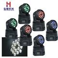 6 teile/los 18x3 Watt RGB mini led wash moving head licht dmx512 bühnenbeleuchtung|moving head light|stage lightmini led wash -