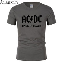 46561bfafb5 AIANXIN New fashion autumn AC DC band rock short Sleeve T Shirt Mens acdc  Graphic O Neck Hip Hop T-shirts Print Casual T shirt
