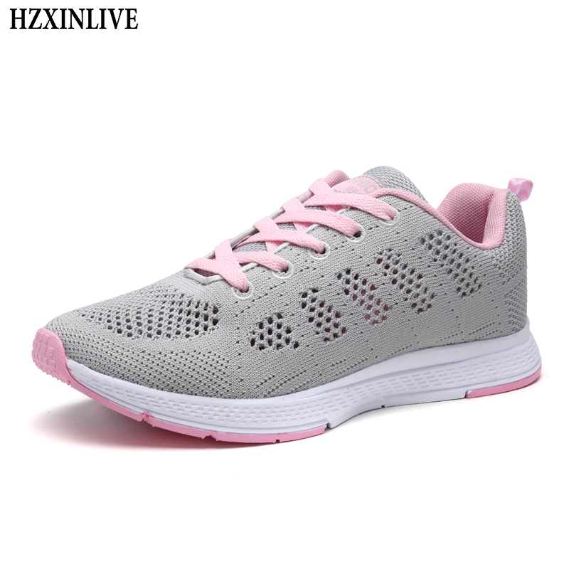 HZXINLIVE 2018 Flat Shoes Women Breathable Women White Hollow Shoes Ladies Casual Platform Female Summer Sneakers Zapatos Mujer women shoes summer flat female loafers zapatos mujer women casual flats woven shoes sneakers slip on colorful sneakers mujer ax4