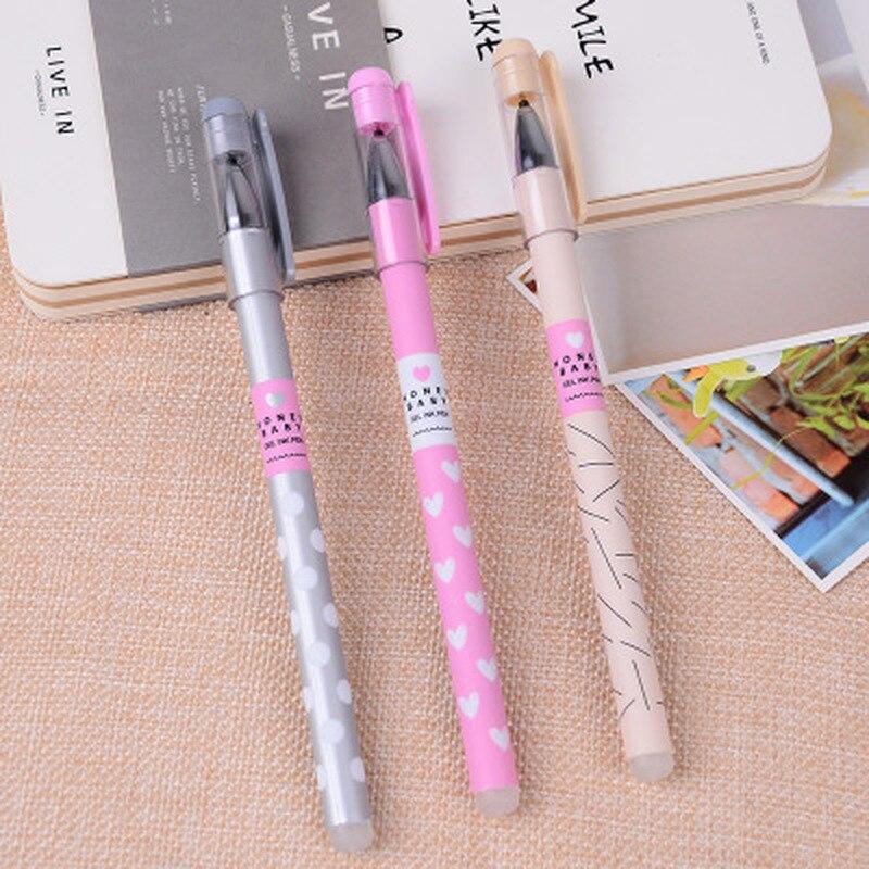 1PCS Erasable Pen Full Needle Gel Pen 0.38mm Cute Stationary Student Gift Signing Gel PensErasable Pens  Kawaii School Supplies