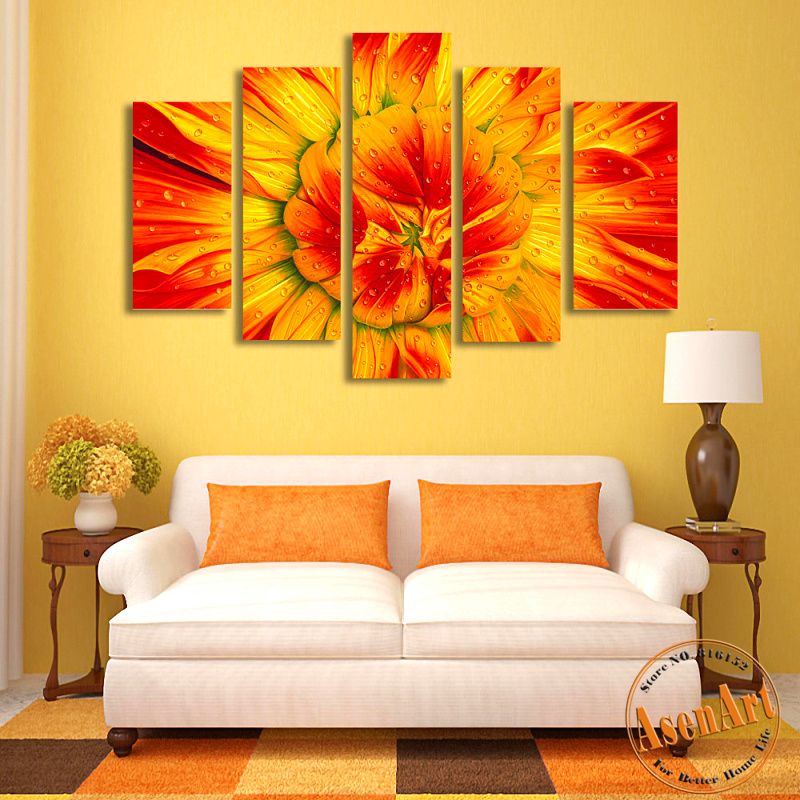 Online get cheap sunflower wall art for Cheap wall decor