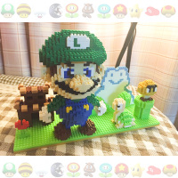 1865pcs YZ Mini Micro Building Blocks Bricks Toys DIY Green Super Mario Scene 66512 Miniature Building Blocks Ornament Kids Gift