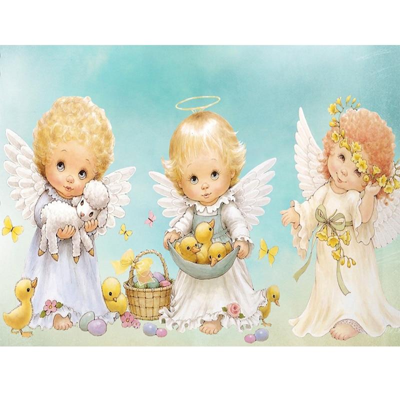 картинка с тремя ангелочками