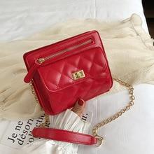 Female Crossbody Bag For Women 2019 Quality Leather Luxury Handbag Designer Sac Main Ladies Lattice Shoulder Messenger Purse Bag