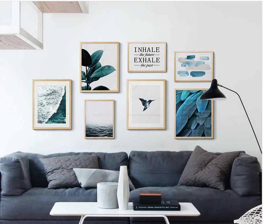 Nordic Tuval Boyama Oturma Odasi Dekoratif Posterler Modern Basit