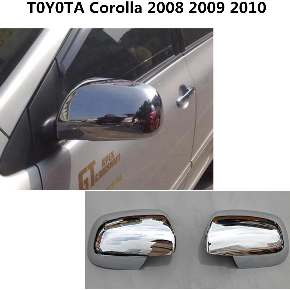 Free shipping for toyota corolla 2008 2013 abs chrome car sticks rear view rearview side