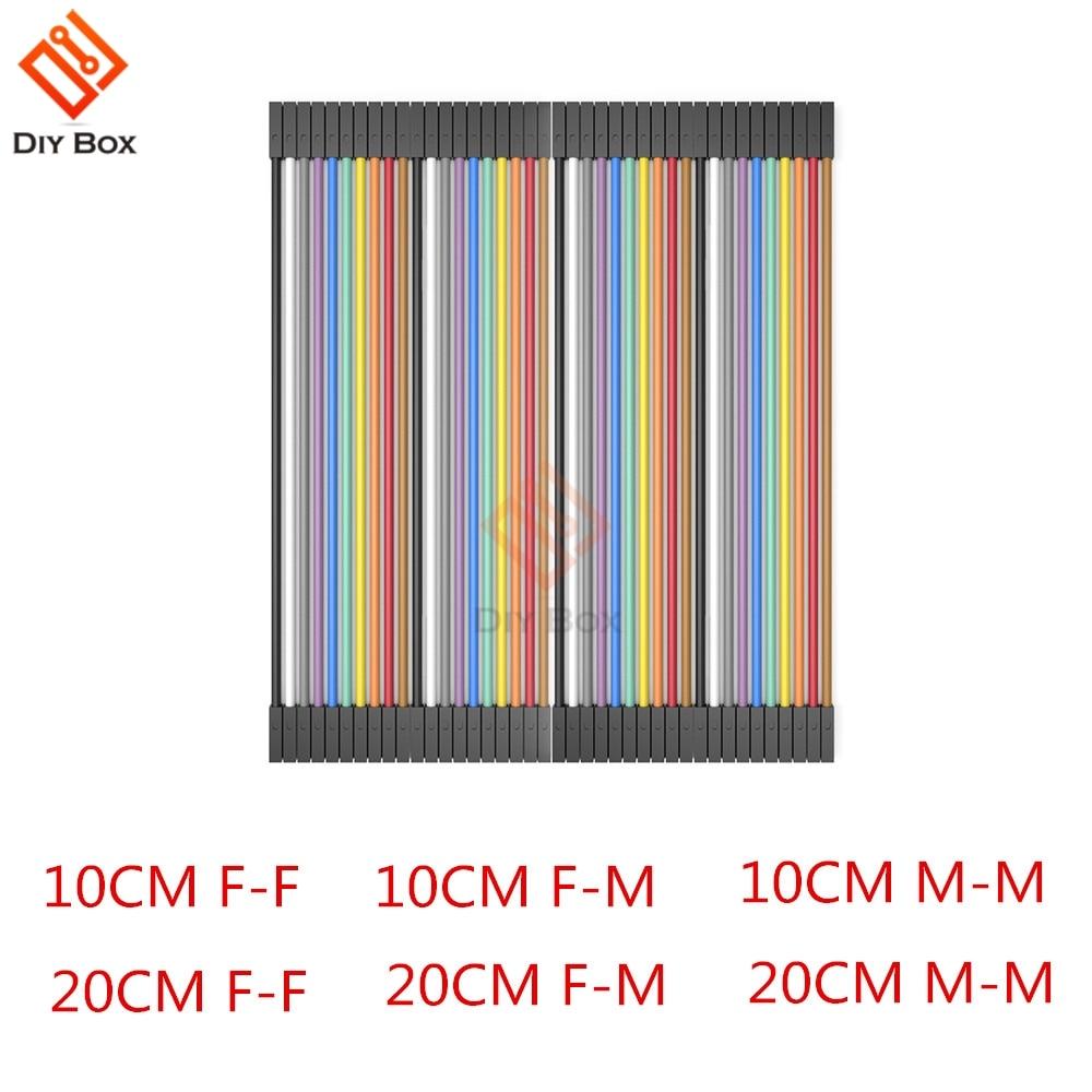 40PIN Dupont Line 10 см 20 см мужской/женский-мужской или женский-Женский Соединительный провод Dupont кабель для arduino DIY KIT