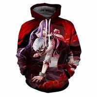 anime tokyo ghoul hoodie 3d printed graphic hoodies fashion men streetwear hooded pullovers long sleeve harajuku sweatshirt