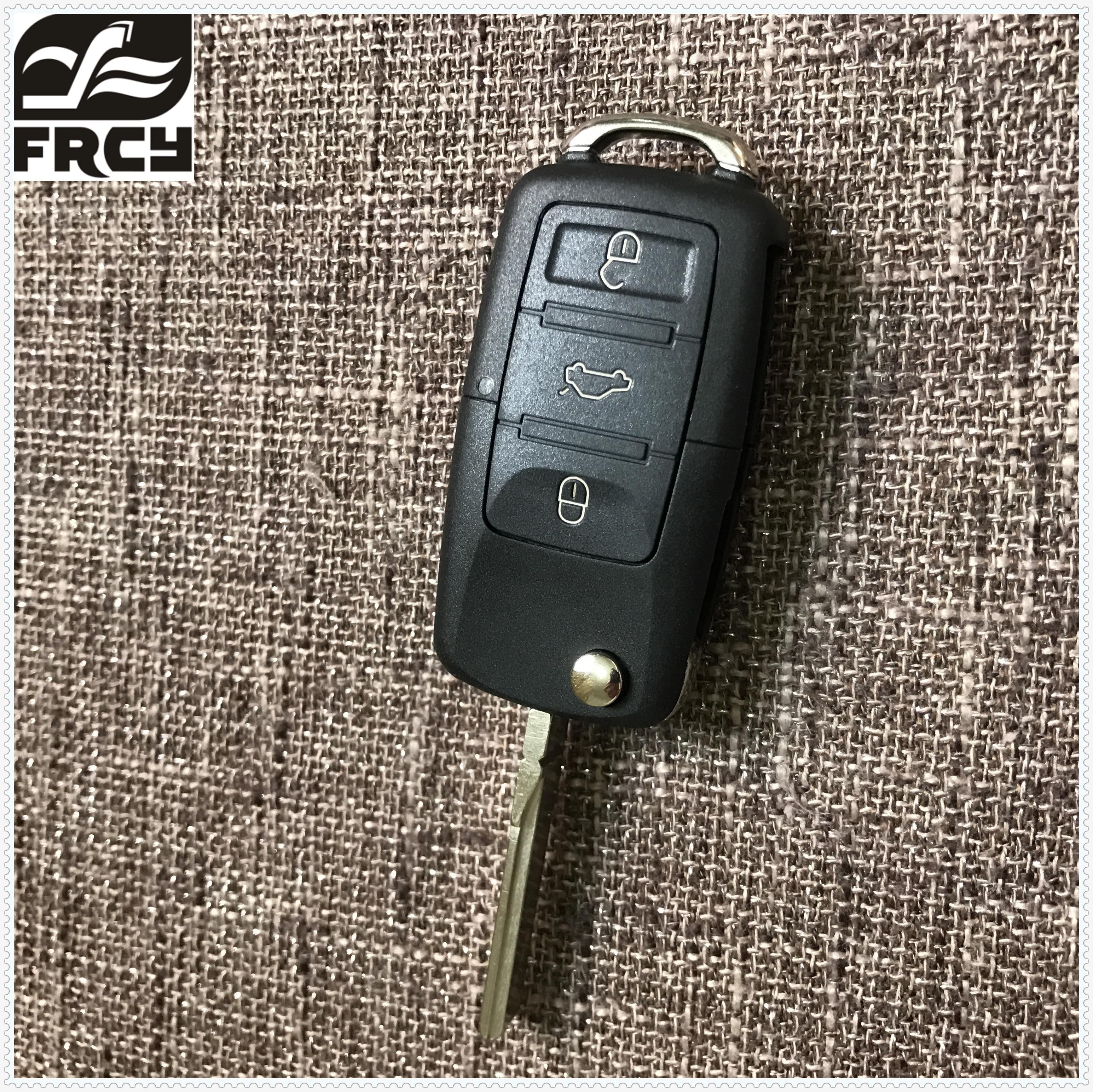 цена на New 3 BN Folding Car Flip Remote Key Replacement blank Case FOB Shell For Vw VOLKSWAGEN Seat Skoda