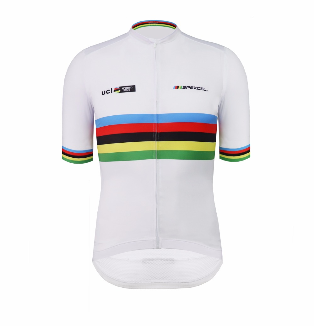 Wear better spexcel rainbow pro team areo cycling jersey short sleeve bicycle clothes Summer MTB road bike shirt high quality custom wiggins pro team aero jersey short sleeve road cycling wear road bike shirt cycling gear free shipping