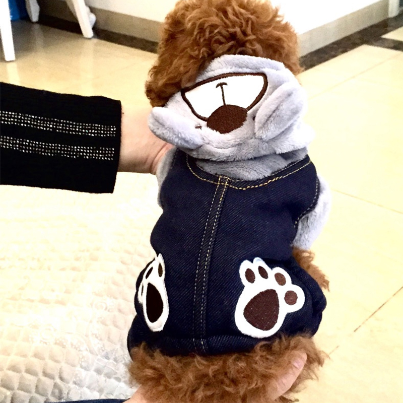 Winter Pet Dog Jumpsuit For Small Dogs Fleece Cotton Pet Dog Sweater Puppy Jumpsuit Yorkie Romper Cat Dog Jumpsuit Clothes RQ005 (8)