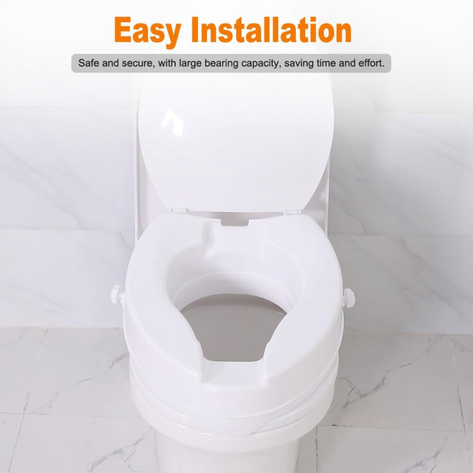 Stupendous 10Cm Portable Raised Toilet Seat Elevated Toilet Seat Riser Removable Comfortable Support Assists Disabled Elderly Squirreltailoven Fun Painted Chair Ideas Images Squirreltailovenorg