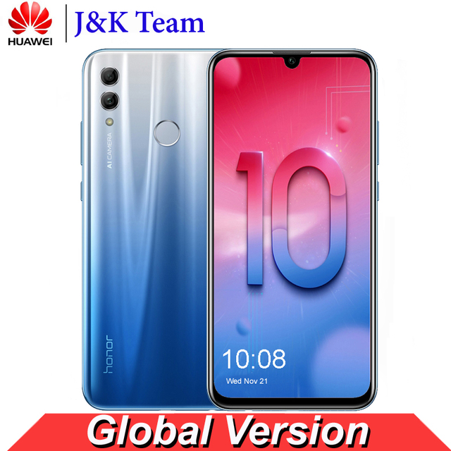 Huawei Honor 10 Lite Global Version MobilePhone 6.2 inch 3400mAh Android 9 24MP Camera Smartphone with Google Play OTA Update