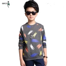 Boy Brand 5-16 T Cardigan Design Color printing Cotton Knitwear Autumn Baby Clothes Children's Clothes Kids Baby Knit Pullover