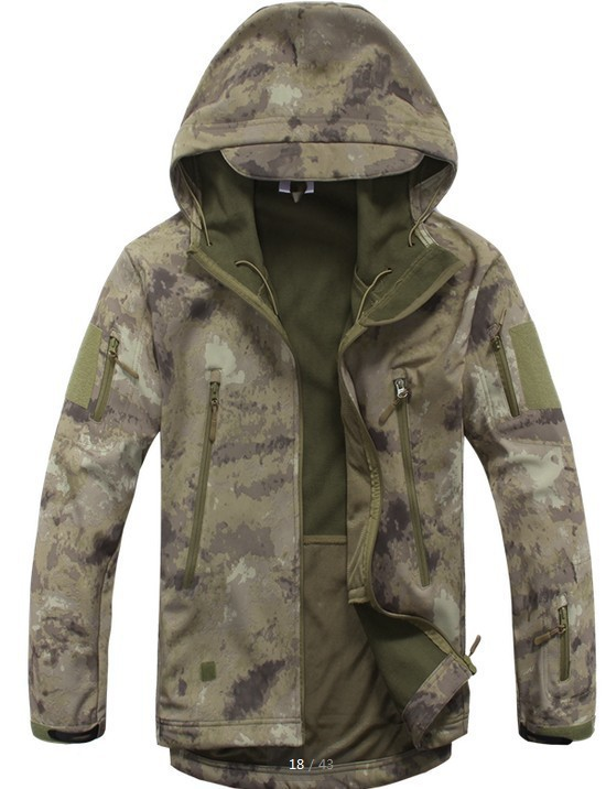 TAD Шестерни Tactical softshell камуфляж на открытом воздухе Для Мужчин Армия Спорт одежда с капюшоном комплект Военная Униформа куртка S Охота Одежда