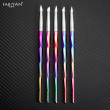 Acrylic Brush Nail Art Silicone Carving Emboss Shaping Hollow Sculpture Dotting Pen Manicure Tools DIY Delicate Design 5pcs Set