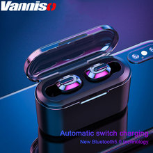 Vanniso TWS Bluetooth Earphone Stereo In-Ear Mini Wireless Headphone with Noise Cancelling Gaming Sport Handsfree Headset phone