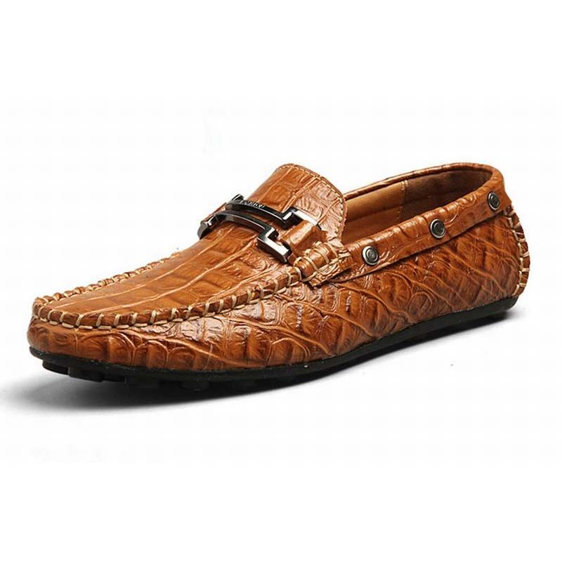 2017 Fashion Crocodile Men Slip-on Loafers Creepers Casual Genuine Leather Male Flat Man Moccasin High Quality Men Driving Shoes 2016 new fashion autumn real genuine leather formal brand man loafers men s casual croco printed slip on flat shoes glm242